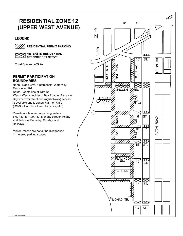 residential parking zone #12 | west avenue neighborhood